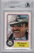 RICHARD PETTY SIGNED #43 MAXX RACE CARD ROOKIE CARD ENCAPSULATED BECKETT BAS