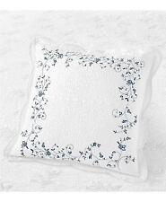 Martha Stewart Stenciled Leaves 100% Cotton European Pillow Sham White $100
