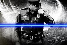 Send Me (Police) by Jason Bullard Art Print Policeman Blue Line Poster 16x24