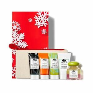 Origins 5 Star Faves Gift Set with 5 Skincare & Cosmetic Bag In Box, NEW, SEALED