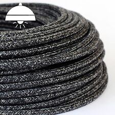 OLD WOOL GREY - ITALIAN PREMIUM THICK Retro braided fabric 3-Core cable