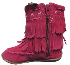 New Baby Girls Pink Leather NEXT Boots Size 3 Infant RRP £30