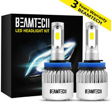 BEAMTECH H11 H9 H8 LED Headlight Bulb Kit Low Beam Fog Light 72W 6500K 8000LM