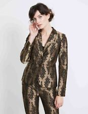 Boden Jacquard Party Blazer Gold Size UK 8 rrp £170.00   SA172 OO 03