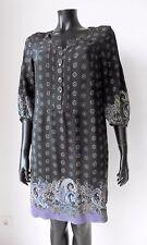 Robe Tunique Soie Courte Orientale Manches 3/4 42 GÉRARD DAREL