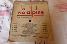 LA VIE ALPINE 16 revue du régionalisme dans les alpe française 1929