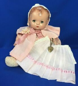 """Vintage Effanbee Patsy Baby 11"""" Composition w Extra Tagged Dress 1930a"""
