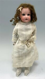 "Antique 16"" German Armand Marseilles Bisque Doll, Kid Leather Jointed Body"