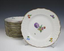 "Set 12 UNUSED Royal Copenhagen Light Saxon Flower 8.75"" Luncheon Plates 493/1623"