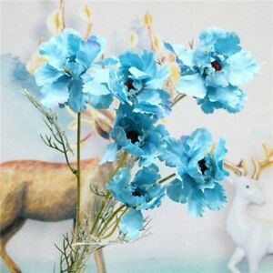 6 heads Peony Artificial Silk Flower Branch for Home Display Wedding Party decor