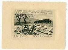 EXLIBRIS,235,Otto Ubbelohde - Pflug auf Acker - 1907
