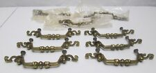 Vintage Lot of 9 Brass Drawer Pulls S Ends Cabinet Handles