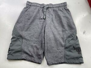 Under Armour Project Rock Terry Shorts Men's Size Medium Pitch Gray Active Gym