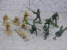 Used Airfix / MPC 1/32 (12) WWII Japanese & US Infantry Soldiers Lot 1303K
