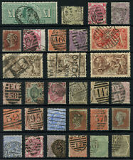 QV - KGV GB Stamp Collection Inc SG 266 KEVII £1 Green Perfin & SG 8 1d Red x 2