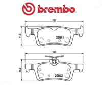 P61121 Kit pastiglie freno, Freno a disco (MARCA-BREMBO)