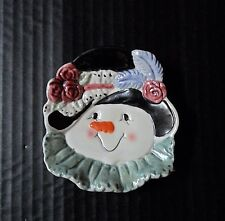 Ganz Bella Casa Tea Bag Rest Holder Snow woman Lady Winter Seasonal Kitchen