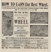 Antique W.W. Thomas Pure Vanilla and Bicycle Flyer, ca 1890 Great bicycle images