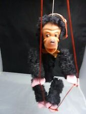 Vintage Fur Japan Marionette Monkey String Puppet Ape Animal Furry Hair  7.5 ""