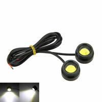 2x Car White LED Round Headlight Bright DRL Driving Daytime Running Light 12W