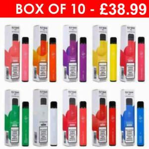 Elf Bar Dispoable Vape Pen 600 puffs Vaporiser Kit 20mg Pod 2ML  ( BOX OF 10 )