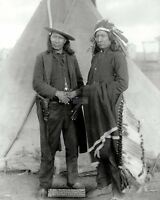 OGLALA CHIEFS AMERICAN HORSE AND RED CLOUD IN 1891 - 8X10 PHOTO (FB-988)
