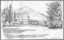 LÉON BERVILLE 2 DESSINS ORIGINAUX 1899 LA MOTTE-SAINT-MARTIN Château Bains Isère
