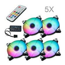 RGB Lüfter 120mm RGB LED Gehäuselüfter High Airflow,mit Controller und Hub 5Tlg