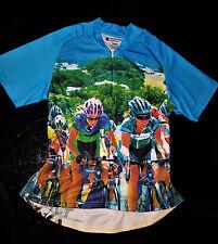 Women Racing Designer Cycling Jersey Bicycle Short Sleeve Top for Biking - M