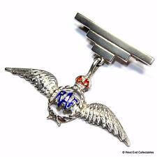 WW2 RAF SILVER Sweetheart Brooch Badge -THOMAS LYNTON MOTT- Royal Air Force A092