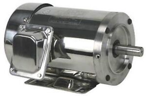 DAYTON 4GPT3 Washdown Motor, 208-230/460 3 Ph, TEFC, 2 HP, 3480 RPM 145TC NEW