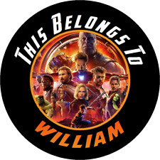 24 Round Avengers Infinity Wars Custom Property Stickers Name Tags School Labels
