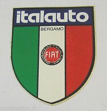 VECCHIO ADESIVO AUTO / Old Sticker CONCESSIONARIA FIAT ITALAUTO BERGAMO (cm 6x7)