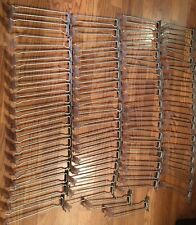 """Used Good Condition 70 Slat-wall 10"""" Metal Hooks With Label Holders"""