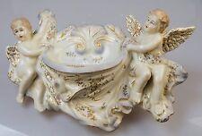 Engel Porzellanfigur gemarkt Porzellan Weihwasser WEIHWASSER SCHALE Wandgefäß