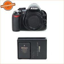 Nikon D3100 fotocamera digitale 14MP Corpo, Batterie, Caricabatterie GRATIS UK