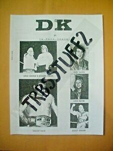 DROPKICK WRESTLING FANZINE #5-9 PGS.WRITERS HOWARD BAUM-GARY CUBETA-DEEM!  COPY