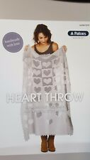 Patons Knitting Pattern #0039 Heart Throw Blanket to Crochet in Regal 4 Ply