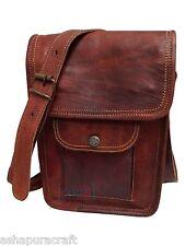 """Men's Leather satchel Vintage Leather messenger Bag Shoulder Bag for i Pad 9"""""""