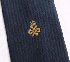 QUEEN'S AWARD TECHNOLOGY LOGO TIE VINTAGE CLUB ASSOCIATION 1970s 1980s BY TOOTAL