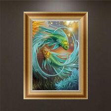DIY 5D Diamond Embroidery Painting Fish Cross Stitch Craft Home Decor