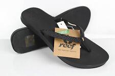 Reef Women's Cushion Bounce Woven Flip Flop Sandals Size 6 Black
