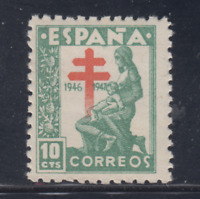ESPAÑA (1946) NUEVO SIN FIJASELLOS MNH - EDIFIL 1009 (10 cts) TUBERCULOSOS LOTE1
