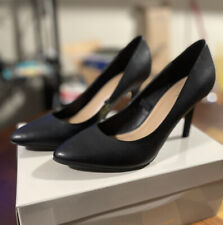 Marc Fisher Tuscany Pumps Black Leather Size 6.5 M