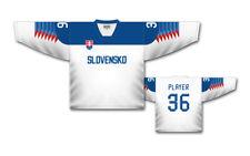 Team Slovakia Ice Hockey WHITE design 2018 Jersey Custom Name and Number