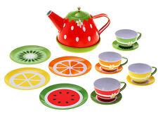 Children's Tin Tea Set FRUIT gift present for little girl