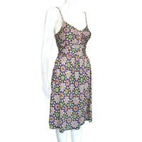 NIEVES LAVI Beautiful Colors Dress Purple Ochre Green Kaleidoscope size 0 - 173