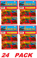 trick magical charcoal Glow worms / Snakes Assorted Colors, kids party fun games