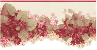 Red Hydrangea Floral Small Laser Cut Wallpaper Border CO77197DC