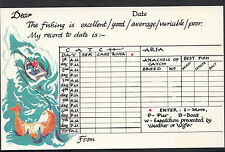 Greetings Postcard - Record of Fishing / Angling - My Record To Date Is... MB252